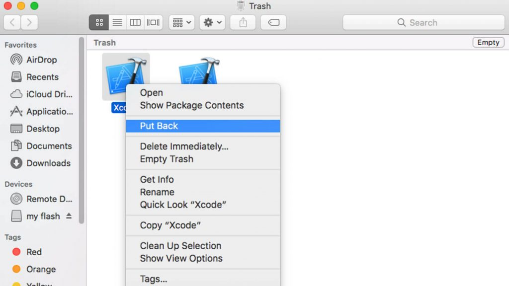 Recover lost Word Document on Mac from Trash