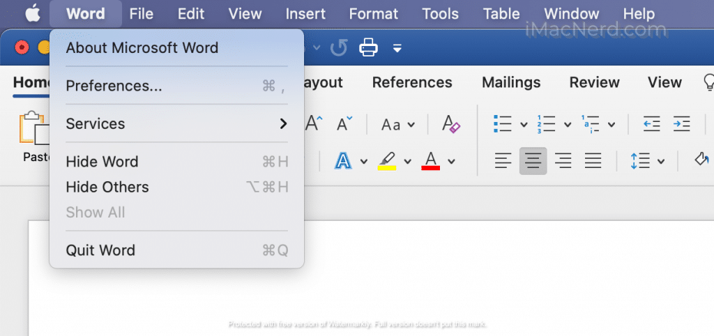 microsoft-word-preference-option-on-mac