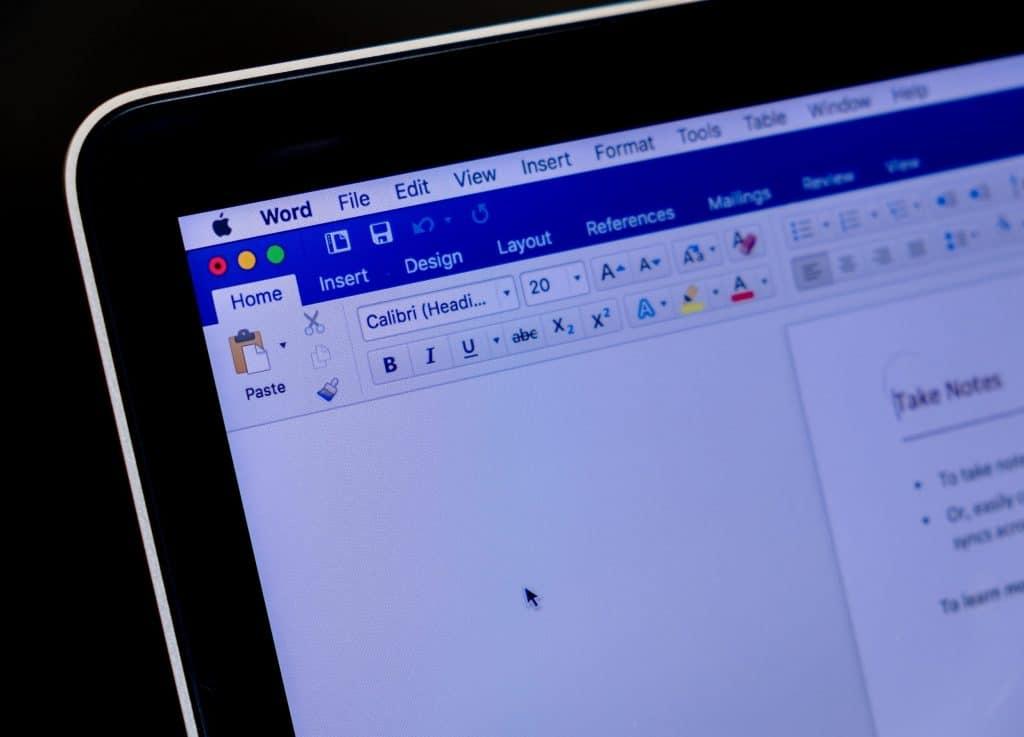 MS Word on Mac