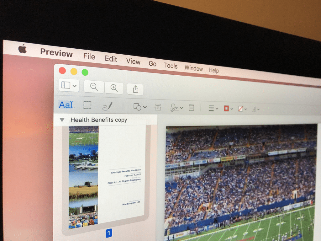 print in black and white on Mac with Preview