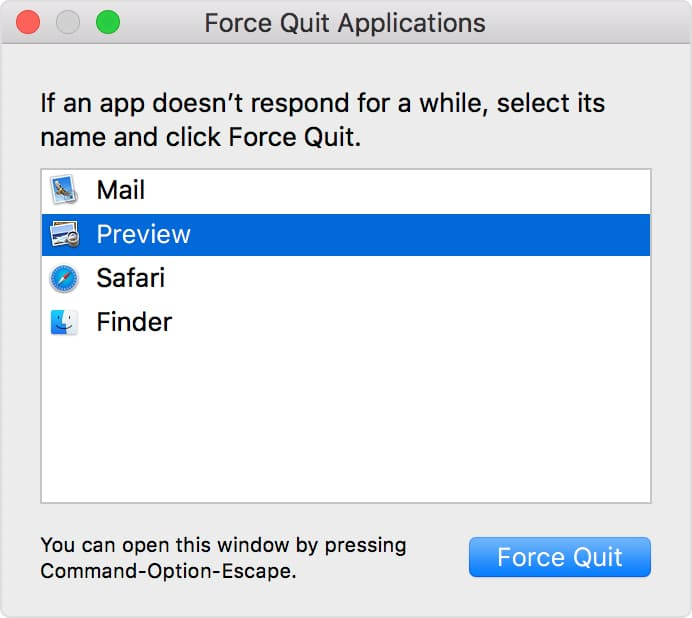 Force Quit all apps